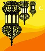 Illustration of stylish ramadan lantern — Stock Vector
