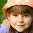 Portrait of a girl in a hat — Stock Photo