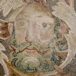 Interesting Roman Mosaic of a face of a man — Stock Photo