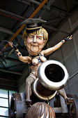 Angela Merkel of cardboard — Stock Photo