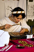 Historical commemoration, medieval jewelry — Stockfoto