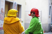 Muggia Carnival, masks — Stock Photo