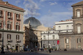 Naples,The view of Umberto I Gallery from Plebiscito Square — Stock Photo