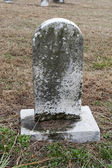 Moldy Curved Headstone — Stock Photo
