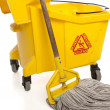 Stock Photo: Industrial Mop and bucket close-up
