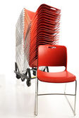 Stack of portable chairs — Stock Photo