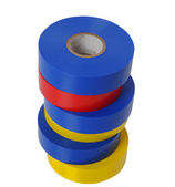 Rolls of colored vinyl tape — Stockfoto
