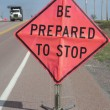 Roadside Work Zone sign — Stock Photo