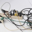 Overloaded power strip — Stock Photo #9762180