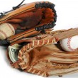 Baseball glove and cash - Stock Photo