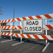 Road Closed Barricade - Stock Photo