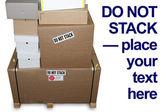 Não empilhe caixas horizontais — Foto Stock