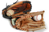 Baseball glove and cash — Stock Photo