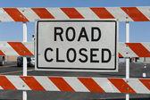 Road Closed Barricade — Stock Photo