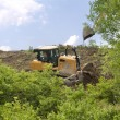 Stock Photo: Heavy Equipment Strips Vegetation