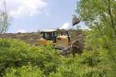 Heavy Equipment Strips Vegetation — Stock Photo