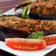 Melanzane ripiene al forno - Stuffed Eggplant oven baked — Stock Photo #9679909