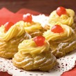Royalty-Free Stock Photo: Zeppola di San Giuseppe - Traditional italian pastry