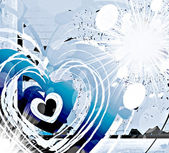 Love in blue — Stock Photo