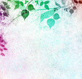 Romantic leaves vintage background — Stock Photo