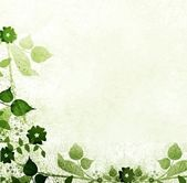 Green leaves vintage background — Foto Stock