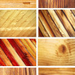 Set of 8 wooden textures — Stock Photo #10177423