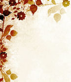 Autumn floral vintage background — Stock Photo
