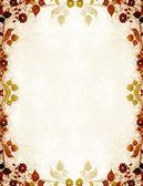 Podzimní květinová ročník pozadí — Stock fotografie