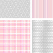 Set of 4 pastel backgrounds — Stock Photo