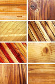 Set of 8 wooden textures — Stock Photo