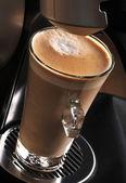 Cappucino coffeein the glass — Stock Photo