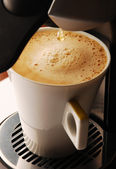 Cappucino coffeein the cup — Stock Photo