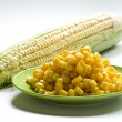 Stock Photo: Corn and corn on cob