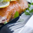 Smoked salmon with white sauce — Foto de Stock