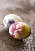 Painted eggs on Easter — Stock Photo