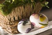крашеные яйца на пасху — Стоковое фото