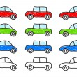 Collection of cars — Stock Vector