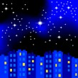 Stock Vector: Night city