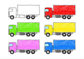 Collection of trucks — Stock Vector