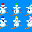 Collection of snowmen — Stock Vector #10103995