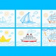 Collection of ships - Stock Vector