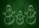 Drawing of snowmen — Stock Vector