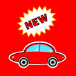 New red car - Imagen vectorial