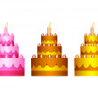 Royalty-Free Stock Vector Image: Collection of cakes