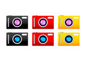 Collection of cameras — Stock Vector