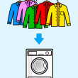 Washer with color shirts — Stock Vector