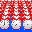 Red alarm clocks — Stockvector #10642997