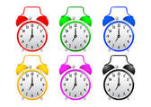 Collection of alarm clocks — Stock Vector