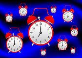 赤の目覚まし時計 — ストックベクタ