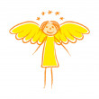Drawing of angel — Stock Vector